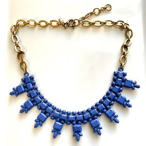 Blue J. Crew Rhinestone Statement Necklace